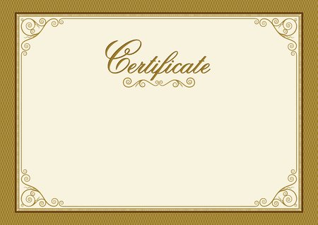 Decorative rectangular framework for label, certificate, card. A3, A4 page proportions.