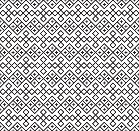Black seamless Slavic ethnic pattern. The swatch is included. Vecteurs