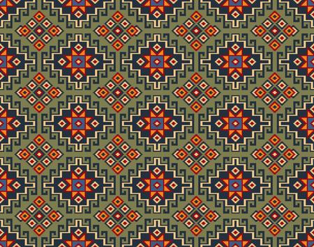 Seamless geometric ethnic pattern. Traditional Asian kilim style.