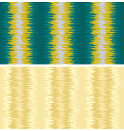 Seamless abstract patterns. Random lines, zigzags. Oriental fabric style. 矢量图像