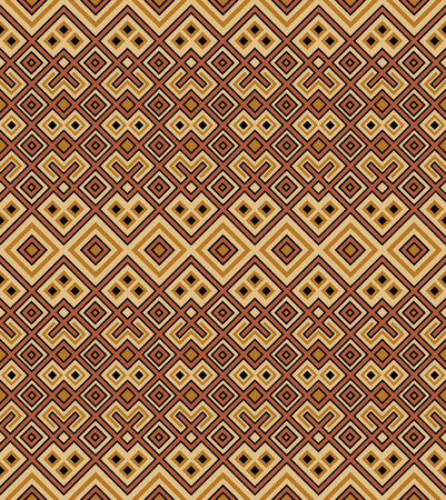 Seamless geometric ethnic pattern. Traditional African and Cuban style. Separated background.