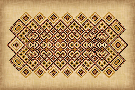 Geometric ethnic pattern on background. Traditional African and Cuban style.