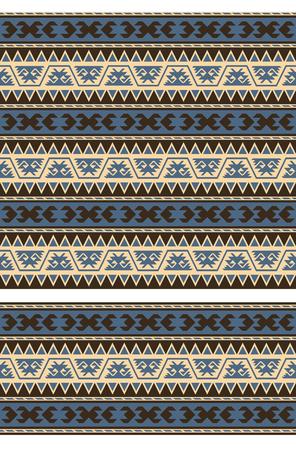 Seamless geometric ethnic pattern and border. Traditional Turkish kilim style.