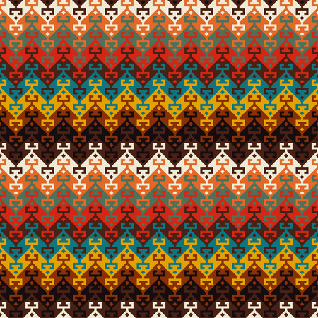 Seamless geometric ethnic pattern. Traditional Turkish kilim style.