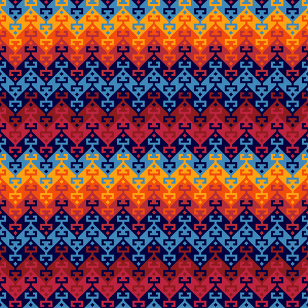 Seamless geometric ethnic pattern. Turkish kilim style. Vivid, saturated colors.