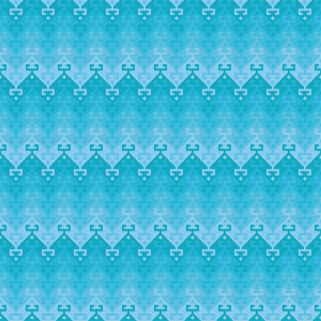 Seamless geometric ethnic pattern. Turkish kilim style. Shades of blue.