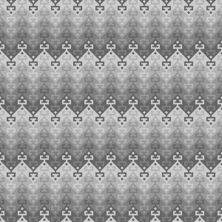 Seamless geometric ethnic pattern. Turkish kilim style. Shades of gray.
