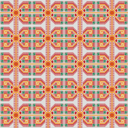Seamless geometric ethnic pattern. Bulgarian style. Swatch is in EPS file. Separated from background.