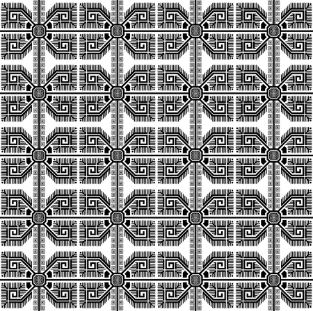 Seamless geometric black ethnic pattern. Bulgarian style. Swatch is in EPS file.
