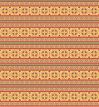 Seamless geometric ethnic pattern. Bulgarian, Central European style.