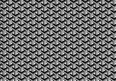 Motif géométrique abstrait sans soudure. Nuances de gris. Illusion d'optique. Arrière-plan transparent.