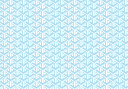 Seamless abstract geometric pattern. Shades of blue. Optical illusion. Transparent background.