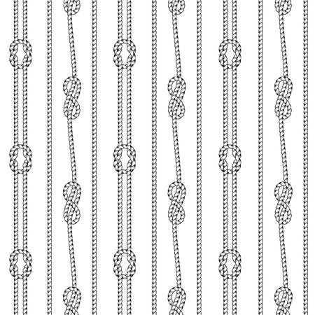 Seamless black and white pattern. Separated white background. Stock Illustratie