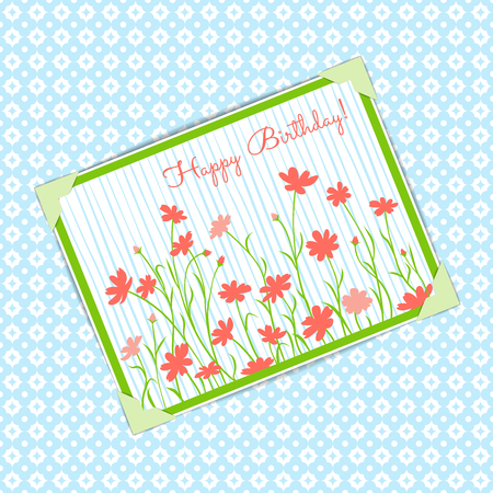 Card for Happy Birthday. Foto de archivo - 127679719