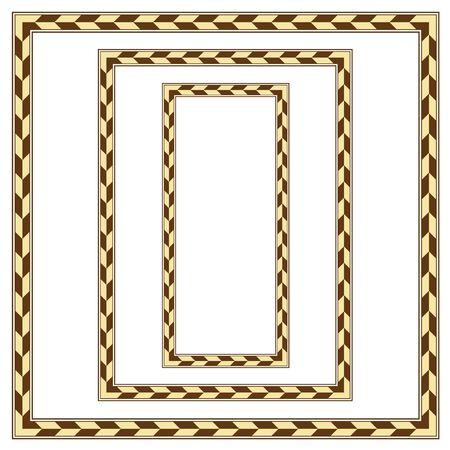 Set of geometric color frameworks, square, A3, rectangular shapes. Иллюстрация