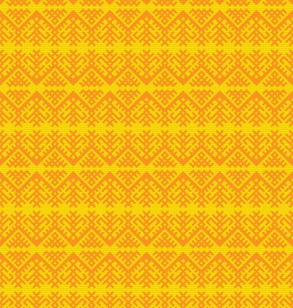 Seamless pattern, traditional ethnic Slavic style. Orange, yellow and golden colors.