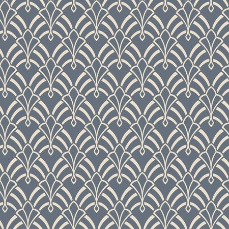Seamless abstract pattern. Swatches included in EPS file. Art Nouveau style and colors. Ilustração