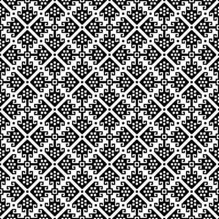 Seamless black pattern. American Indians ethnic style. Appropriate for textile, packing materials, website background. Swatches are included in EPS file. Çizim