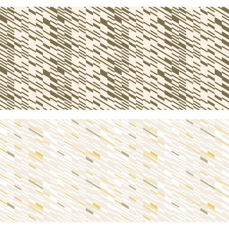 Seamless geometric patterns. Metallic, golden colors. Appropriate for fabric materials, packing materials, websites. Samples are added to swatches panel. Çizim