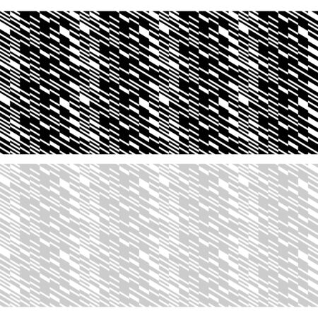Seamless geometric black, white and gray patterns. Appropriate for fabric materials, packing materials, websites. Samples are added to swatches panel.