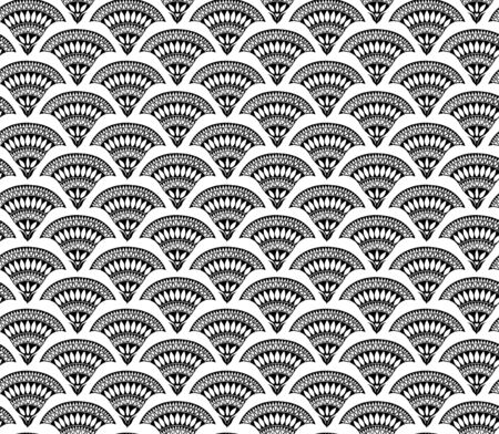 Seamless floral black and white pattern, stylized flowers. Appropriate for fabric materials, wallpaper. Sample is added to swatches panel.