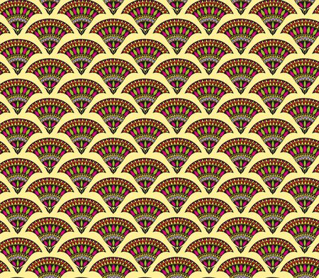 Seamless floral pattern, bright stylized flowers. Appropriate for fabric materials, wallpaper. Sample is added to swatches panel.