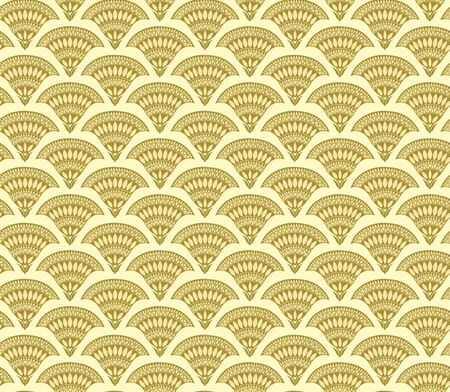 Seamless floral golden pattern, stylized flowers. Appropriate for fabric materials, wallpaper. Sample is added to swatches panel.