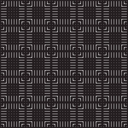 Seamless black and white abstract geometric pattern. Swatches included
