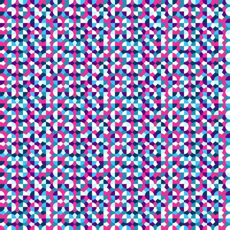 Seamless geometric pattern, saturated colors. Appropriate for fabric materials, packing materials, websites backgrounds. Sample is added to swatches panel. Çizim