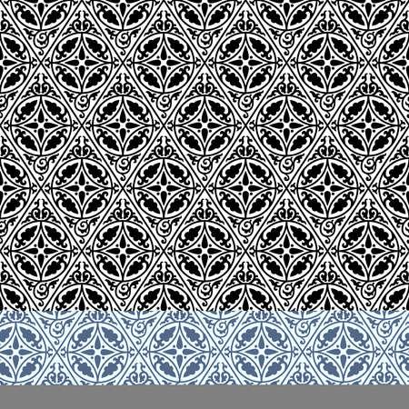 Ethnic geometric seamless pattern. Antique Byzantine style. Black color. Ilustração