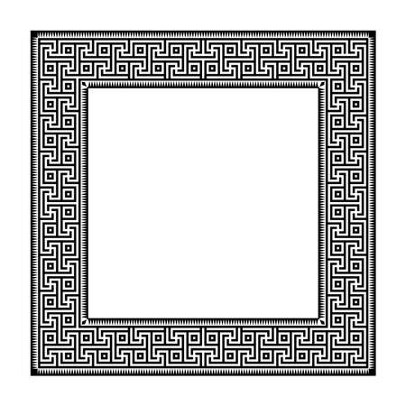 Square geometric frame. Antic Greek style.