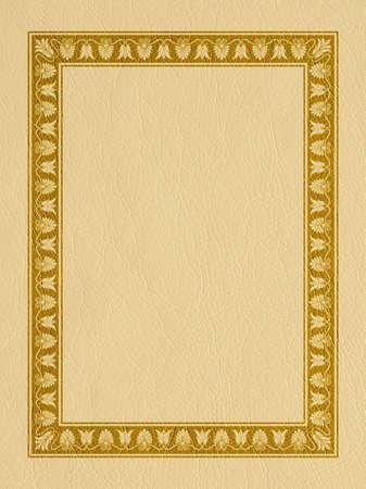 Rectangular framework on leather-like background. Ancient Greek style.