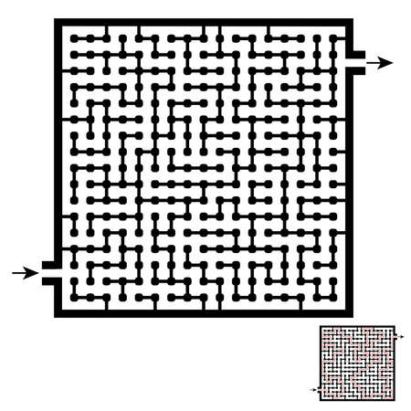 Maze game for kids and adults. Solution included.