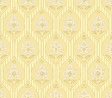 Seamless patterns with various whimsical flowers. Suzani tribal style. Light, pale colors. Clipping masks used.