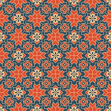 Seamless pattern with tiles. Swatch included. Classic Japanese style.