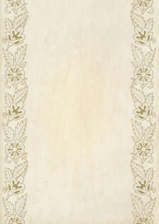 Rectangular floral framework, oil effects. A3, A4 page sizes.