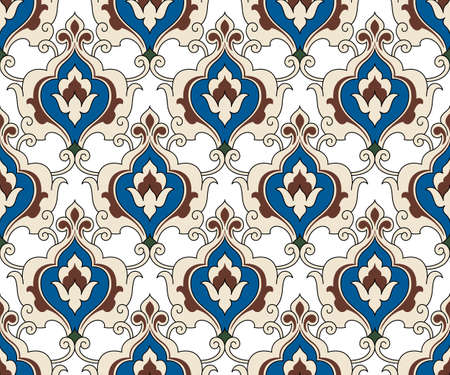 Seamless pattern, traditional Persian elements. Transparent back. Swatch is included.