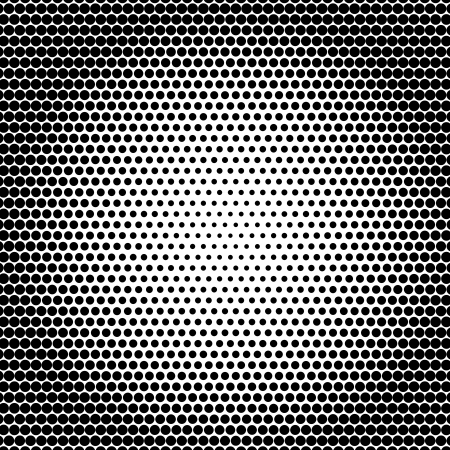 crop circle:  halftone dots background