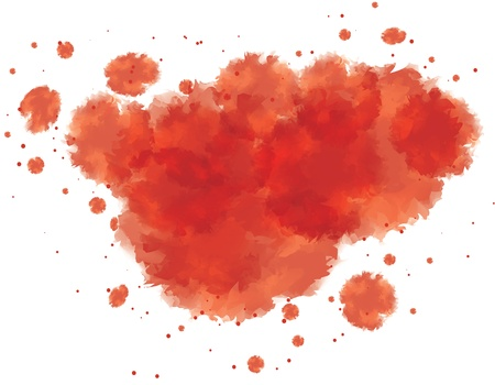 soiled: vector illustration of bloody watercolor spots