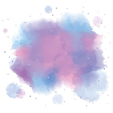 colorful spot, watercolor abstract hand painted background  Vector