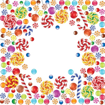 made of colorful candies  Vector