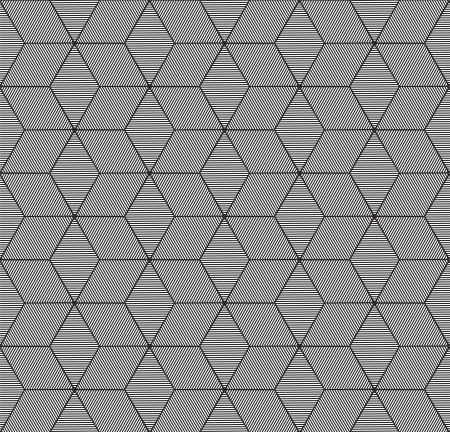 hexagonal pattern: monochrome geometric seamless pattern