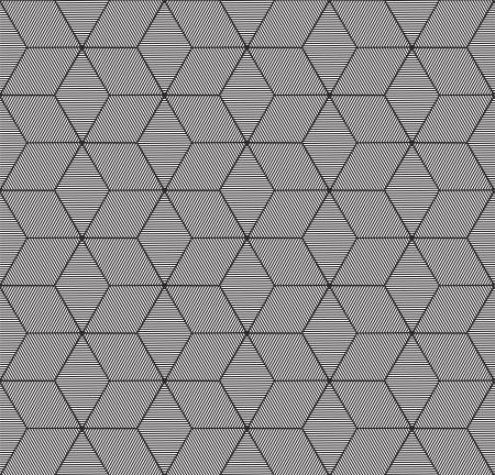 iteration: monochrome geometric seamless pattern