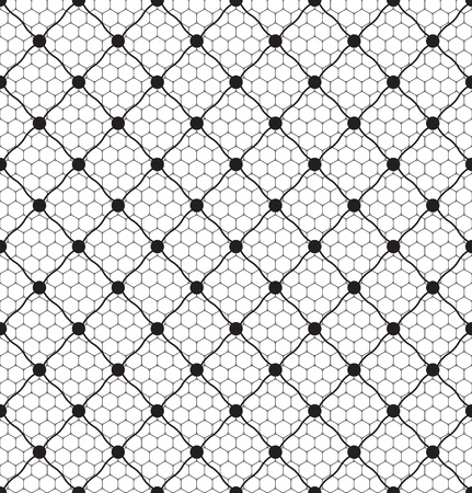 retro lace: lace dotted veil seamless pattern on net background
