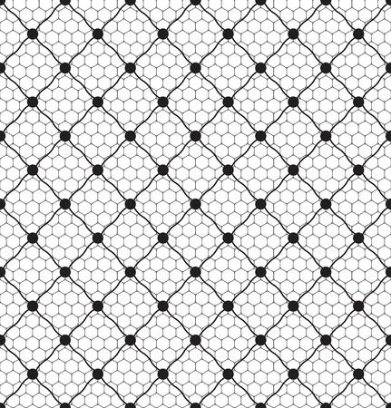 patrón de encaje velo de puntos sin fisuras en el fondo neto