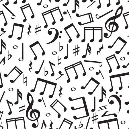Seamless pattern with a music notes  Illustration
