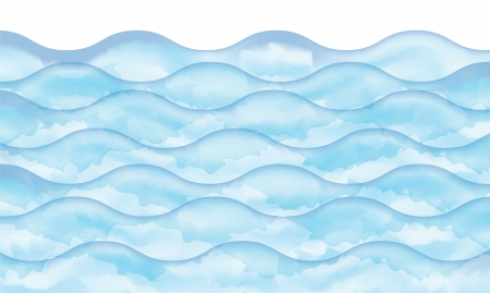 Abstract watercolor blue wave, vector background  Vector