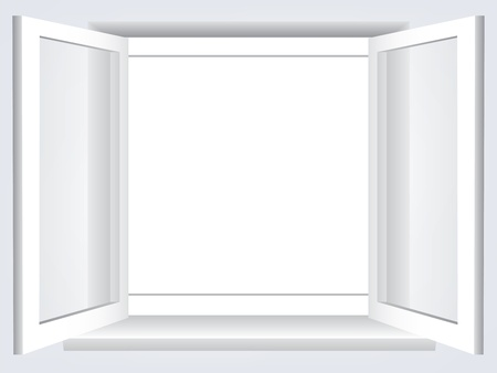 Room,  opened window with empty space in the middle Stock Vector - 15307058