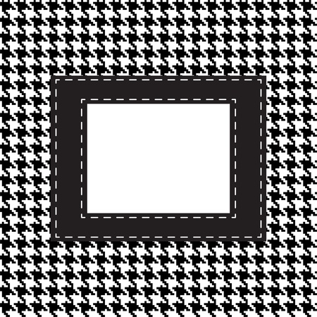 fabric swatch: houndstooth seamless pattern  Fabric background Illustration