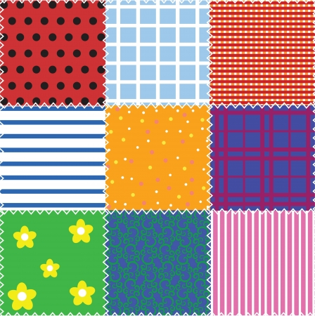 sewing pattern: seamless patchwork background